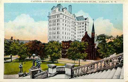 Albany, New York, USA (Fort Orange) - Capitol Approach and Bell Telephone Bldg., Albany, N. Y.