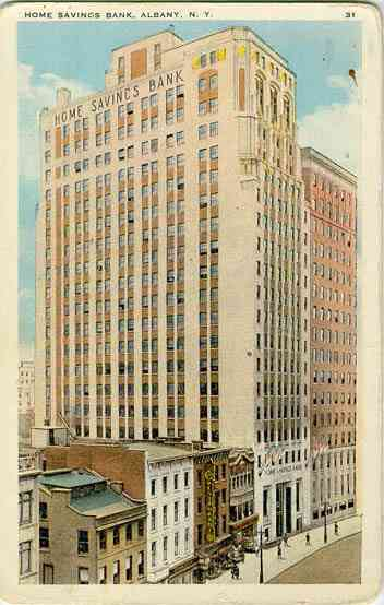 Albany, New York, USA (Fort Orange) - Home Savings Bank, Albany, N. Y.
