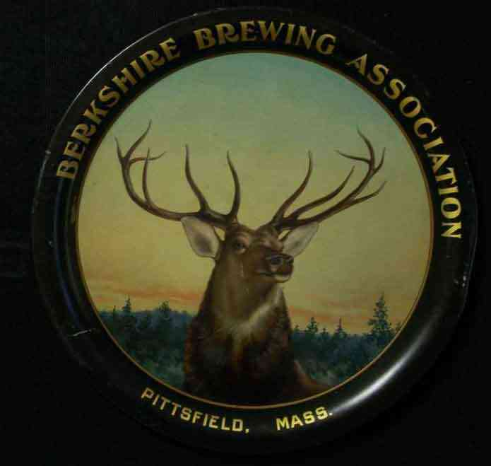 Pittsfield, Berkshire, Massachusetts, USA - Berkshire Brewing Association  (352 Columbus Avenue, Pittsfield, MA 1891-1918) tray. Thanks to Scott Pepoon for the photo.