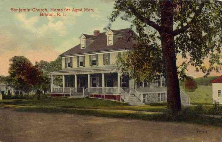 Bristol, Bristol, Rhode Island, USA - Benjamin Church, Home for Aged Men, Bristol, R. I.