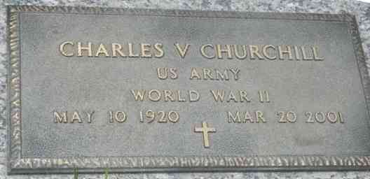 Charles V Churchill - Grave