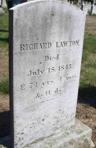 Richard Lawton - Grave - Maple Grove Cemetery, Westport, Massachusetts
