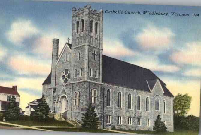 Middlebury, Vermont, USA - Catholic Church, Middlebury, Vermont