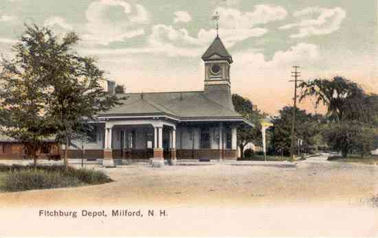 Milford, New Hampshire, USA - Fitchburg Depot, Milford, N. H.