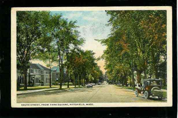 Pittsfield, Berkshire, Massachusetts, USA - South St. Pittsfield, MA - 1916