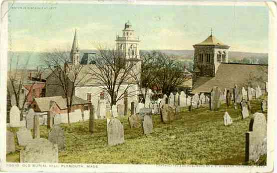 Plymouth, Plymouth, Massachusetts, USA - Old Burial Hill, Plymouth, Mass.