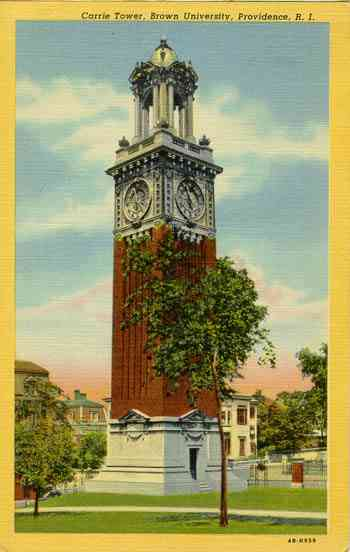 Providence, Providence, Rhode Island, USA - Carrie Tower, Brown University, Providence, R. I.
