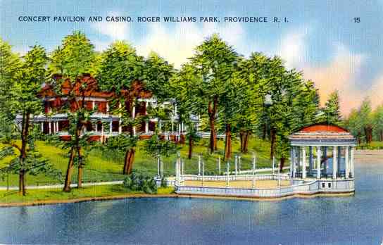 Providence, Rhode Island, USA - Concert Pavilion and Casino, Roger Williams Park, Providence, R. I.