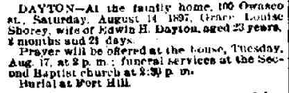 Grace Louise Augusta Shorey - The Auburn Bulletin