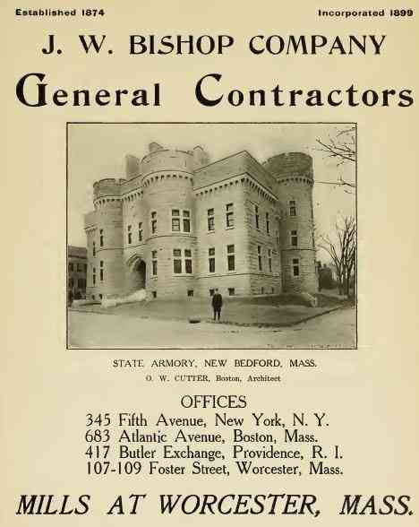 Worcester, Massachusetts, USA (Greendale) (Quinsigamond Village) (Tatnuck) (Vernon Hill) - J. W. Bishop Company General Contractors